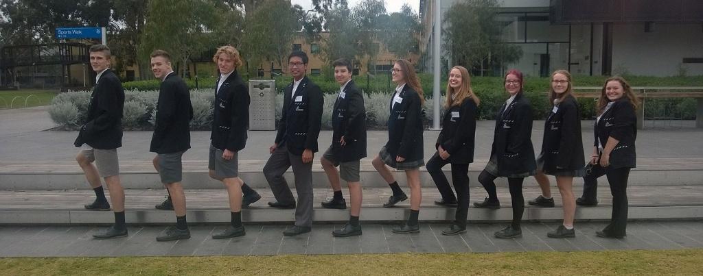 Year 10 Enhanced Class From Left to Right Marlyn, Lachlan, Oskar, Kim, Cameron,  Jenna, Anya, Catherine, Emma
