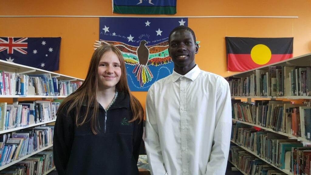2018 School Vice Captains: Brooke Hyland and Lazarus Wani Farajala